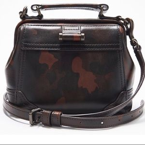 NWT Frye Camoflouge Brown Top Handle Crossbody Bag